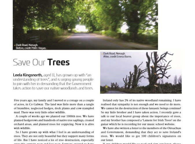Children's Tree Campaign - Save Our Trees